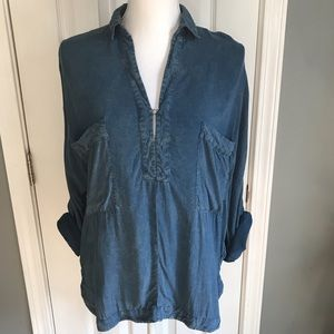 Weathered blue tunic from Silence + Noise, Small